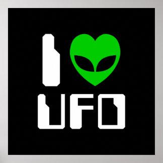 I Alien Heart UFO Poster