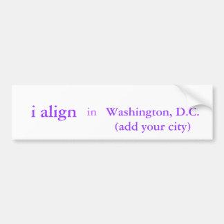 i align + city bumper sticker