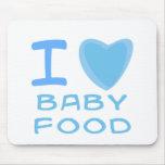 I alimentos para niños del corazón (amor) tapetes de ratones