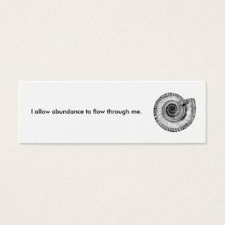 I allow abundance to flow through me. mini business card