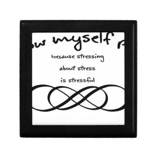 I allow myself peace infinity keepsake box