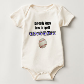 I already know how to spell BASEBALL Romper