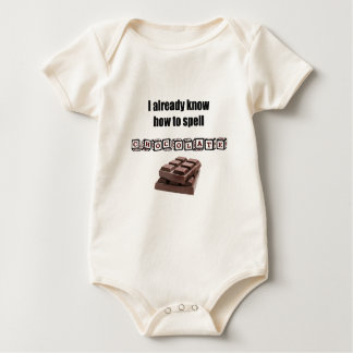 I already know how to spell CHOCOLATE #001 Rompers