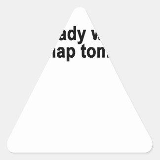 I already want to take a nap tomorrow typography s triangle sticker