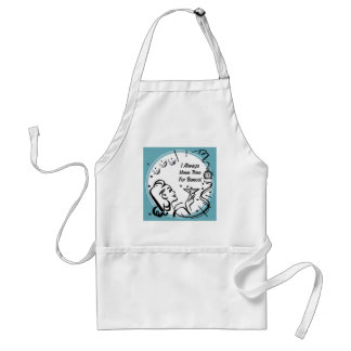 I Always Have Time For Bunco by Artinspired Adult Apron