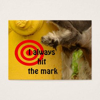 I always hit the mark business card