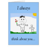 I always, think about you... card