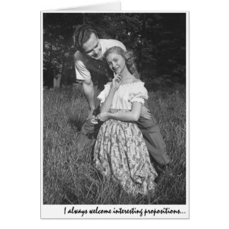 """""""I always welcome interesting propositions..."""" Greeting Card"""
