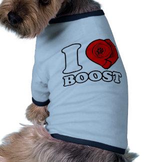 I alza del corazón camiseta con mangas para perro