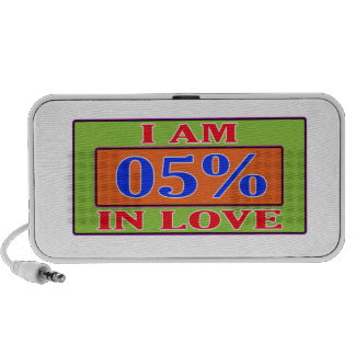 I am 05 % in love notebook speakers