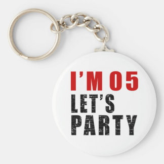 I Am 05 Let's Party Basic Round Button Keychain