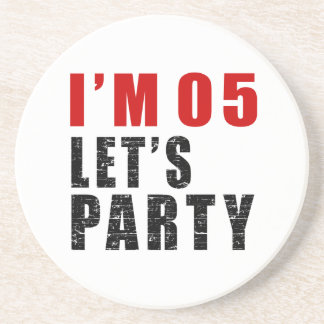 I Am 05 Let's Party Sandstone Coaster