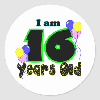 I Am 16 Years Old Sticker