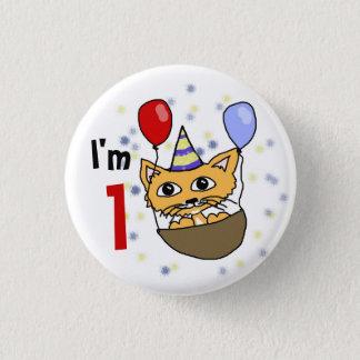 I am 1 anniversary pinback button