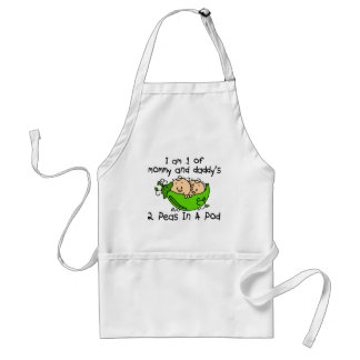 I Am 1 Of Mommy & Daddy's 2 Peas In A Pod Apron