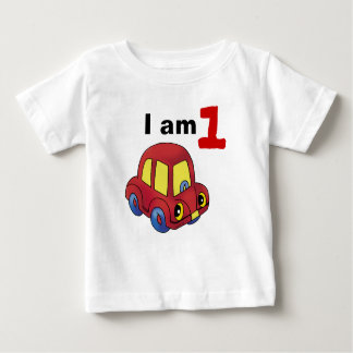 I am 1 (red toy car) baby T-Shirt