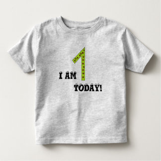 I AM 1 TODAY Adorable 1 Year Old Birthday Toddler T-shirt
