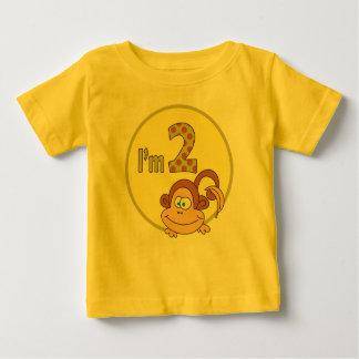 I am 2 Cute Monkey With Banana Birthday Shirt