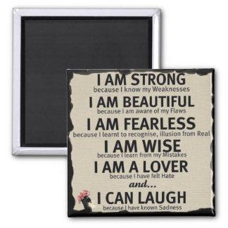 I am..... 2 inch square magnet