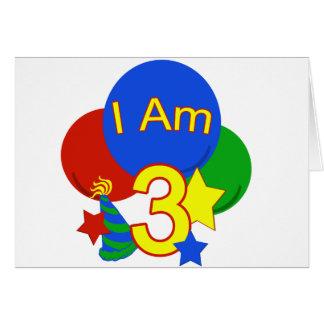 I Am 3 Birthday Cards