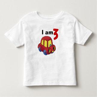 I am 3 (red toy car) tshirts