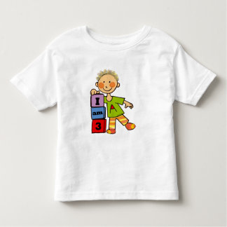 I am 3 toddler t-shirt