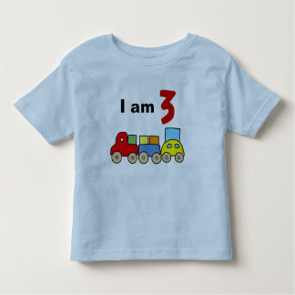 I am 3 (wooden toy train) tee shirts