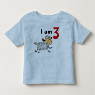I am 3 years old today (cute little lamb) toddler t-shirt
