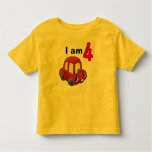 I am 4 (red toy car) shirt