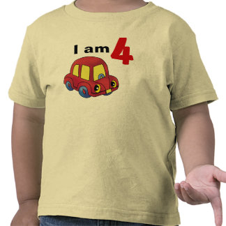 I am 4 (red toy car) shirt
