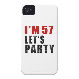 I Am 57 Let's Party iPhone 4 Case-Mate Case