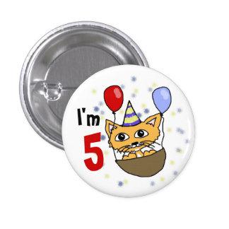 I am 5 anniversary button