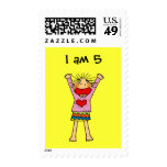 I am 5 postage stamps