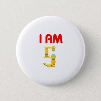 I am 5 Robots Evolution 5th Birthday 2012 Button