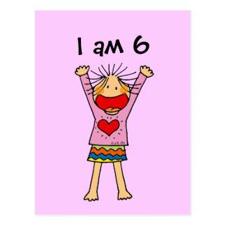 I am 6 postcard