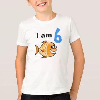 I am 6 years old today (cartoon orange fish) T-Shirt