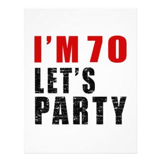 I Am 70 Let's Party Letterhead