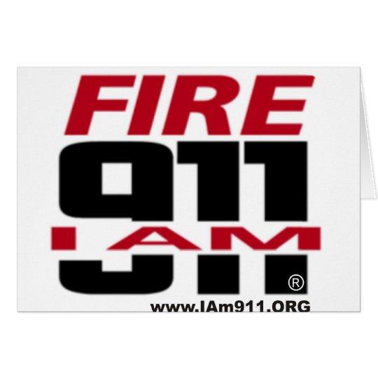I Am 911 logo stuff for Fire, EMS, Dispatch! Card