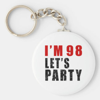 I A'm 98 Let's Party Basic Round Button Keychain