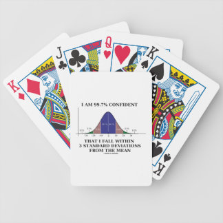 I Am 99.7% Confident Fall Within 3 Std Deviations Bicycle Playing Cards