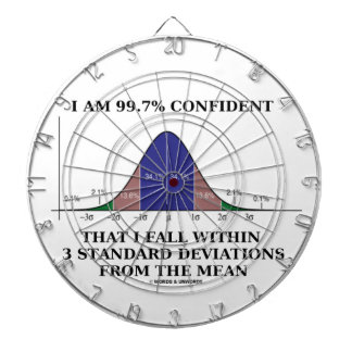 I Am 99.7% Confident Fall Within 3 Std Deviations Dartboards