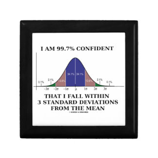 I Am 99.7% Confident Fall Within 3 Std Deviations Gift Box