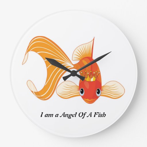 I am a angel of a fish wallclock large clock zazzle for What kind of fish am i