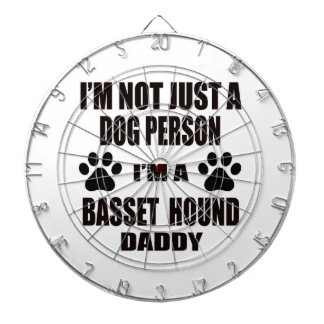 I am a Basset Hound Daddy Dart Board