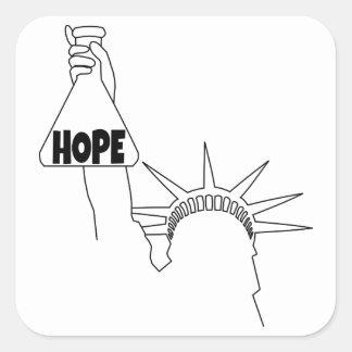 I am a Beaker of Hope Square Sticker