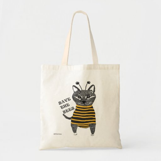I Am A Bee Tote Bags