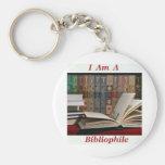 I am a Bibliophile Key Chain