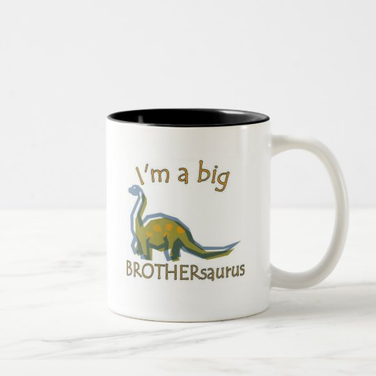 I am a big brothersaurus solo Two-Tone coffee mug