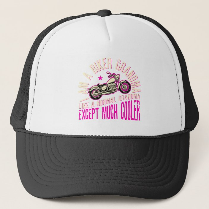 Cool Funny Gift for Bikers Trucker Hat