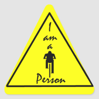 I Am a Biking Person Sticker